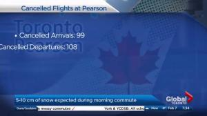 Pearson Airport cancels hundreds of flights due to winter storm